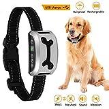 Creine Erziehungshalsband Wireless Anti-Bell Hundehalsband Trainingshalsband für Hund Vibration Wasserdicht MENSCHLICH, SICHER, SCHMERZLOS