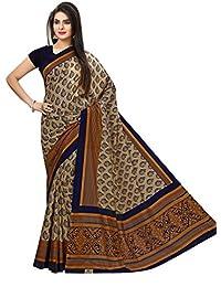 Miraan Women's Kora Silk Saree With Blouse Piece (Vi3313,Blue,Free Size)