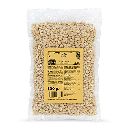 KoRo - Pinienkerne 500 g - Naturbelassene Zedernüsse ohne Zusätze, rein pflanzlich und aromatisch im Geschmack, perfekt für selbstgemachtes Pesto