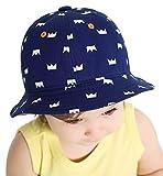 Superora Cappello Sole da Bambino Blu a Secchio Cappelli Outdoor Beanie Protezione da Sole Estate Primavera