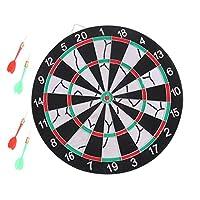 لعبة رمي السهام قطعة واحدة مع أسهم محمولة مزدوجة الجانبين لعبة رائعة للترفيه مجموعة لوحة السهام