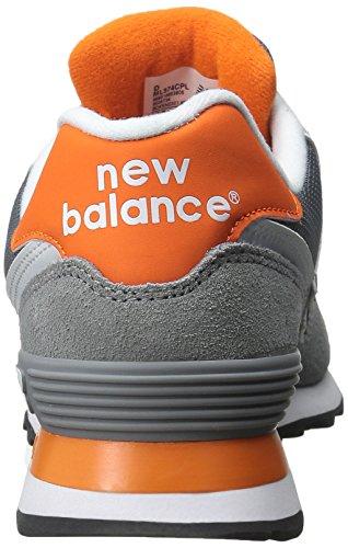 New Balance 486881 60, Baskets Basses Homme Gris (GREY/ORANGE)