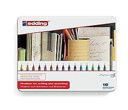 edding 55 Fineliner Pack of 16 - Assorted