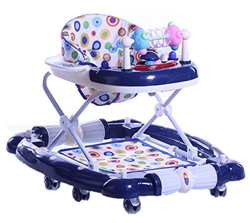 OGTOP 2017 Baby-Walker Multifunktions-Anti-Rollover 6-18 Monate Sitzgürtel Musik Kann Gefaltet Werden Um Zu Sitzen,3-OneSize