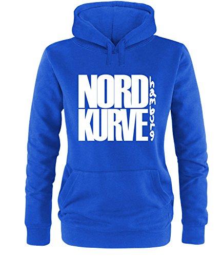 Luckja Nordkurve Hamburg Damen Hoodie, Royal / Bunt, L