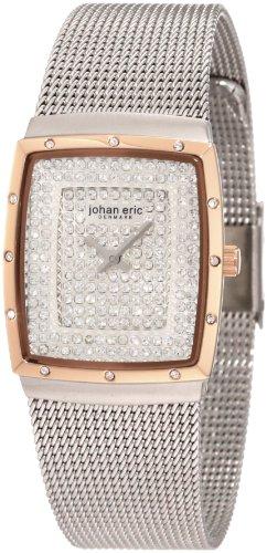 Johan Eric Tondor JE1007-04-001.16 - Reloj analógico de Cuarzo para Mujer, Correa de Acero Inoxidable Color Plateado