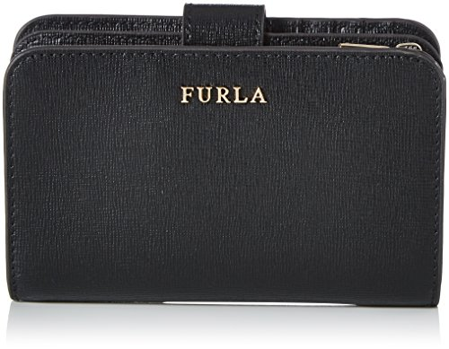 FURLA Damen Babylon M Zip Throughout Geldbörse, Schwarz (Onyx), 1x9x14 cm
