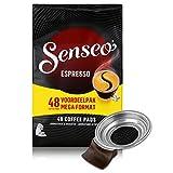 Senseo Espresso, 48 Kaffee Pads & Padhalter HD7003 für HD7863