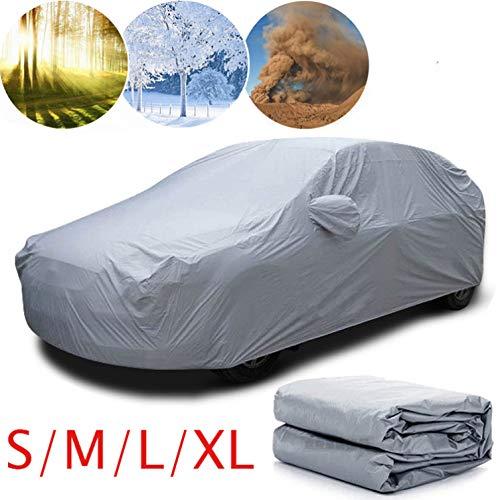 VOSAREA 1 Pcs Autoabdeckung Praktische Dauerhaltbarkeit Auto Shade Car Protection Accessoires Auto Kleidung für Kratzer Schnee Staub XL Silber