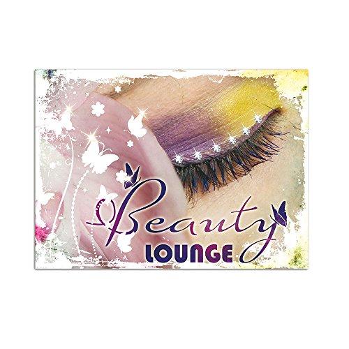 mit Swarovski für Badezimmer Schriftzug Beauty Lounge (55x40cm) (40 Wimpern)