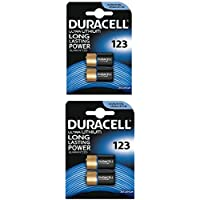 4 x CR123 3V Duracell Ultra Litio Batteria Fotografica - DL123 - EL123A - CR123A - CR17345