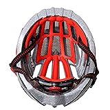 TZQ équitation Vélos Casques De Sport,SilverRed-OneSize