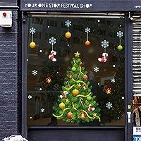 Rawdah Pegatinas Navidad Ventana Pegatinas Navidad Pared Merry Christmas 2019 Etiqueta de la pared del sitio del hogar Mural decoración calcomanía extraíble