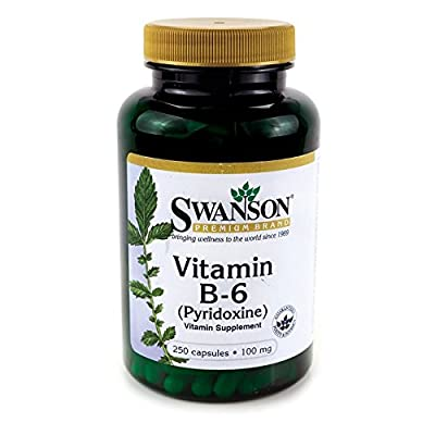 Swanson Vitamin B6 (pyridoxine) (100mg, 250 Capsules) by Swanson Health Products