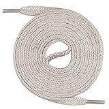 Mount Swiss Lacets plats, qualité premium 100% coton, indéchirables beiges claires 90 cm