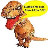 VAMEI Dinosaurier Kostüm Kinder Aufblasbare T-Rex Kostüm Halloween Kostüm Lustige Party Outfit Mit Kordelzug Geschenk Tasche