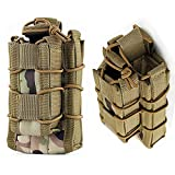 HWZ Tactical Molle Magazine Pouch Open-Top Single Rifle Pistol mag Pouch AR/M4/M16 Cartridge Clip Pouch Hunting Bag (CP)