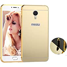 Funda Espejo Aluminio Metal Carcasa para Meizu M3S Color Oro