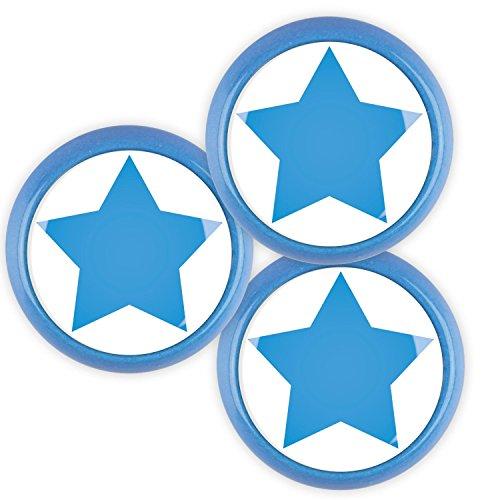 Boutons de Meuble Céramique Assortiment 3 pièces ECO173 7B Bleu Classique Design Coloré Couronne Coeur Squiggle Lune Étoiles Papillon Dots Poignée Bouton pour Enfants Pépinière Ménage Bureau Armoire Tiroir Commode