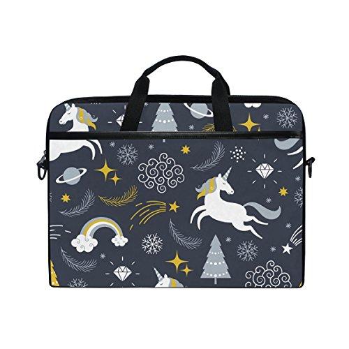 99c1449880b8 Jstel unicorni laptop messenger bag custodia tracolla per 35,6 cm a 39,6 cm  con tracolla per notebook regolabile
