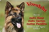 +++ Deutscher SCHÄFERHUND - Metall WARNSCHILD Schild Hundeschild Sign - DSH 30 T1