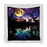 Beydodo Duschvorhang Antischimmel Mondlicht 3D Lustiger Duschvorhang 120x180 cm