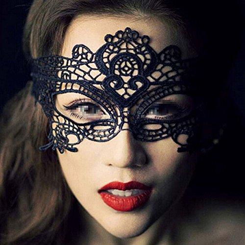 Butterme Frauen schwarze Spitze Maskerade Masken weiche Augen Maske venezianischen Partei Maske Bar Halloween Tanz Ball (Kostüme Für Tanz Material)