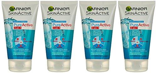 garnier-skin-active-pure-active-3-en-1-nettoyant-exfoliant-masque-150-ml-lot-de-4