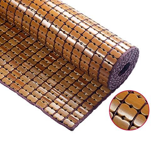 ZHAOHUI Estera De Bambú Carbonizado Verano Almohadilla para Dormir Guay Resistente Al Desgaste Antideslizante Sala, 4 Estilos, 9 Tallas (Color : B-2x2.2m)