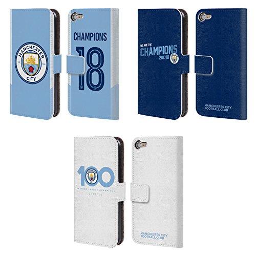 Officiel Manchester City Man City FC 2017/18 Champions Étui Coque De Livre en Cuir pour Apple iPod Touch MP3