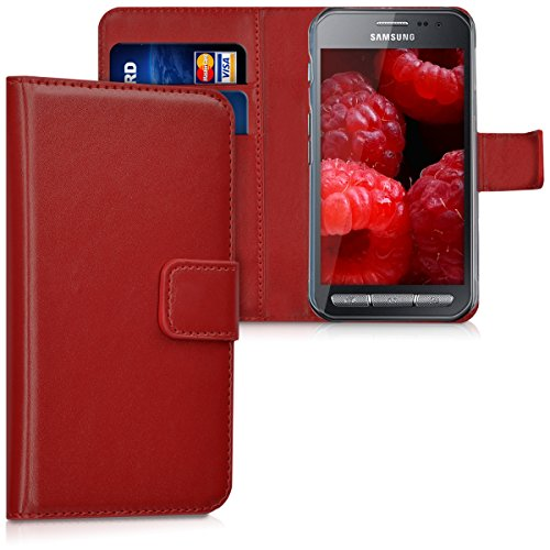 kwmobile Samsung Galaxy Xcover 3 Hülle - Kunstleder Wallet Case für Samsung Galaxy Xcover 3 mit Kartenfächern und Stand (Samsung Galaxy 3 Case Wallet)