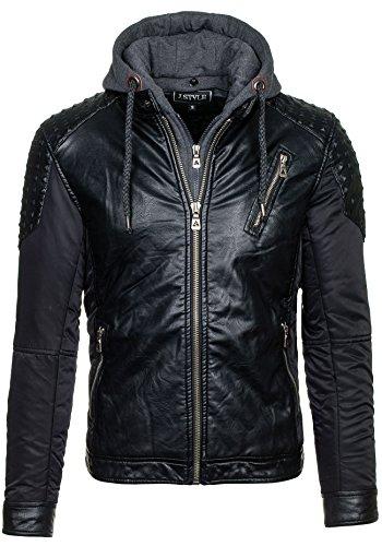EXTREME - Veste - Faux cuir - Fermeture éclair – J.STYLE 3066 – Homme Noir