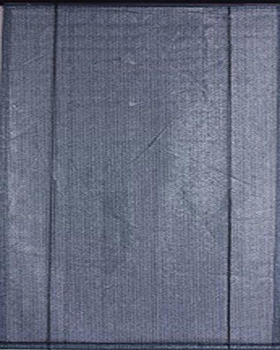 Voile d'ombrage verticale à enrouleur Ardoise Ajouré en polyéthylène tressé 165 g / m² anti-UV, 100 x 180 cm -PEGANE-