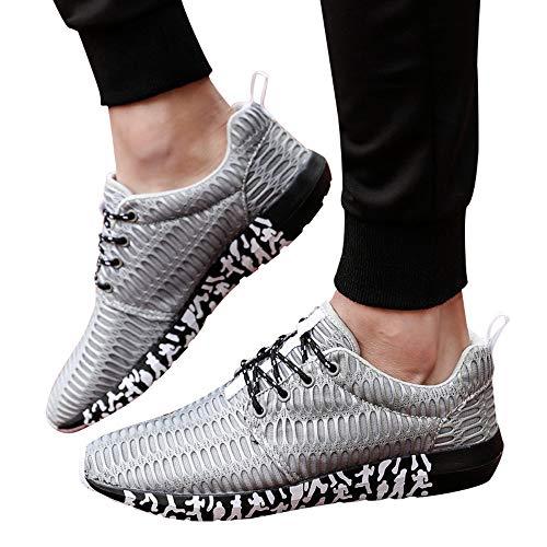 Schuhe Herren Sneaker | Holeider Laufschuhe Mode | Sportschuhe Turnschuhe Freizeitschuhe Atmungsaktiv Bequem Fitnessschuhe für Männer Schuhe Outdoor Mesh