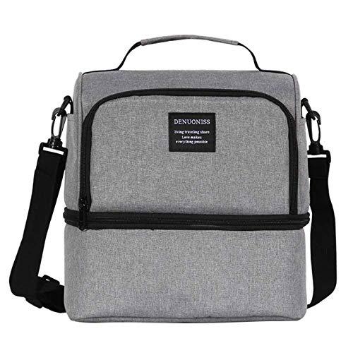 rdichte Kühltasche mit großer Kapazität Lunchbox mit abnehmbarem Schultergurt für Herren, Frauen für Heimdekoration - grau ()