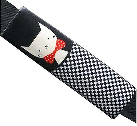 1 paire de sièges d'auto Ceinture Pads Épaulières Seat Belt Covers Cat