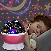 ★Ubegood Fantastico proiettore che crea un cielo stellato★  - Questo fantastico proiettore è un regalo perfetto per bambini, giovani o amanti. Specifiche del prodotto:  Colore: Rosa  Alimentazione: batterie 4 * AA (non incluse) o con il cavo ...