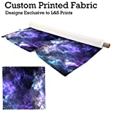 L&S PRINTS FOAM DESIGNS Galaxy 8 Design Digital Print Lycra 2 Way Stretch Polyester bedruckt Stoff 149,9 cm Breite hergestellt in Yorkshire