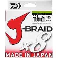 Daiwa J- Braid X8 - Sedal de Pesca Trenzada Redonda, Verde Oscuro, 0.18mm, 12.0kg / 26.5lbs, 300m