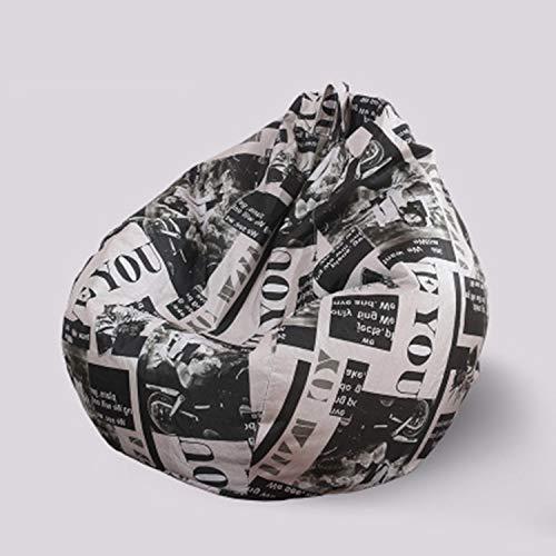 HEIFEN Sitzsack ist weich und bequem. Baumwolle und Leinen Lazy Sofa - Medium 90cm * 110cm Sitzsack Sofa, gefüllt mit Styroporpartikeln, kann gereinigt Werden -
