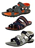 #10: Tempo Men's Combo Pack Of 2 Sandals and 1 Slipper(PWR-10/FLTR/SPR-54)