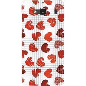 Casotec Heart Cell Surface Design Hard Back Case Cover for Xiaomi Redmi 2 Prime