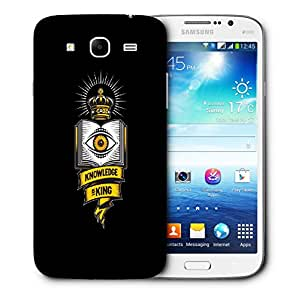 Snoogg Knowledge Is King Designer Protective Back Case Cover For Samsung Galaxy Mega 5.8