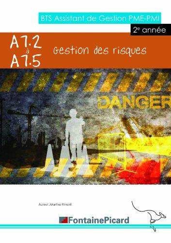 Gestion des risques A7.2 à A7.5 BTS AG PME-PMI : 2e année