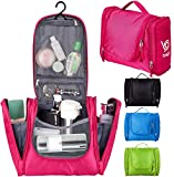 Bago Travel Toiletry Bags for man woman & kids – 100% SATISFACTION GUARANTEED. Hanging Toiletries Bag or for Home. Multi Pockets & High Quality Zippers. Perfect for Cosmetics Shaving & Personal Care (Pink)