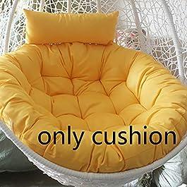 MSM Rond Swing Coussin, Surdimensionné Solid Color Bourré Suspendus De œuf Hamac Papasan Chaise Cushins, Chaise Pas…