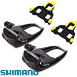 "Shimano PDR540 SPD SL Sport Road Bike Cycling Clipless Pedals ""WITH CLEATS"" - BLACK"
