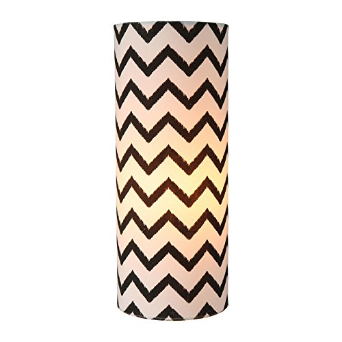 sema-99544-chevron-neri-e-bianchi-lampada-tubo-consistenza-tessuto-nero-bianco
