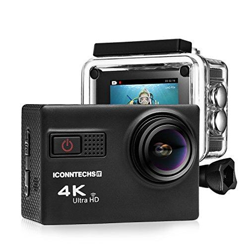 ICONNTECHS IT 4K Ultra HD Wasserfeste Sport-Actionkamera, 170° Weitwinkellinse, Full HD 1080P WiFi HDMI camcorder, Gratis Zubehör für Helm, Tauchen, Radfahren und Extremsport - 2