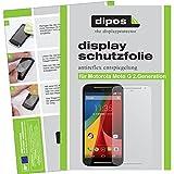 dipos I 2X Schutzfolie matt passend für Motorola Moto G (2. Generation) Folie Bildschirmschutzfolie
